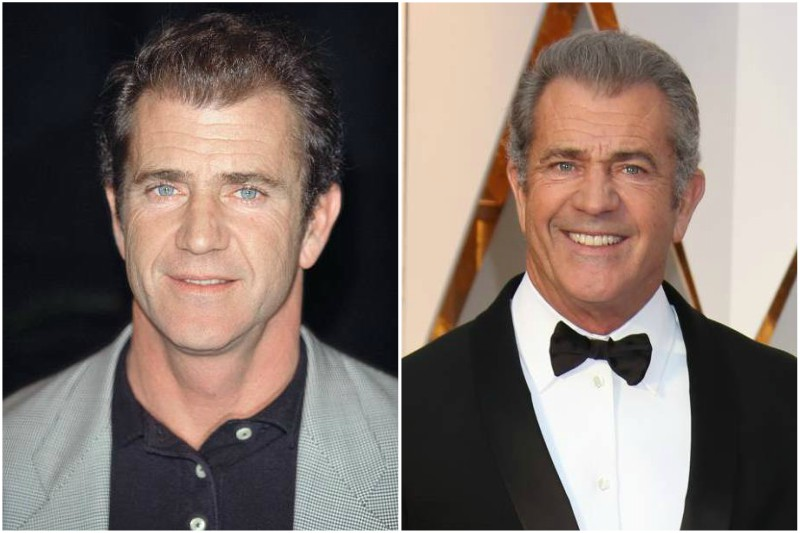 Mel Gibson's eyes and hair color