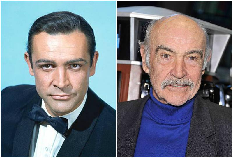 Sean Connery's eyes and hair color