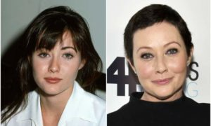 Shannen Doherty's eyes and hair color