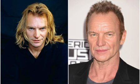 Sting's eyes and hair color