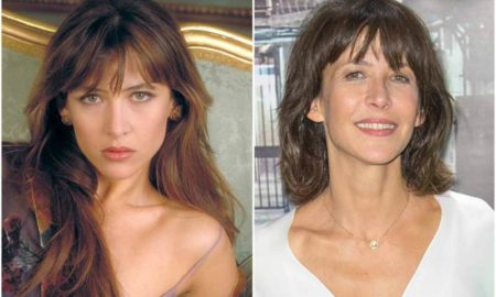 Sophie Marceau's eyes and hair color