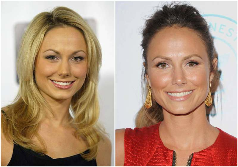 Stacy Keibler's eyes and hair color