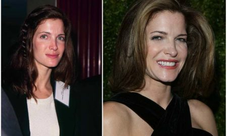 Stephanie Seymour's eyes and hair color