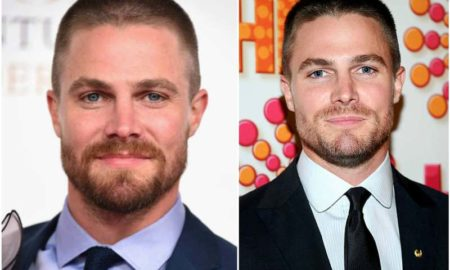 Stephen Amell's eyes and hair color