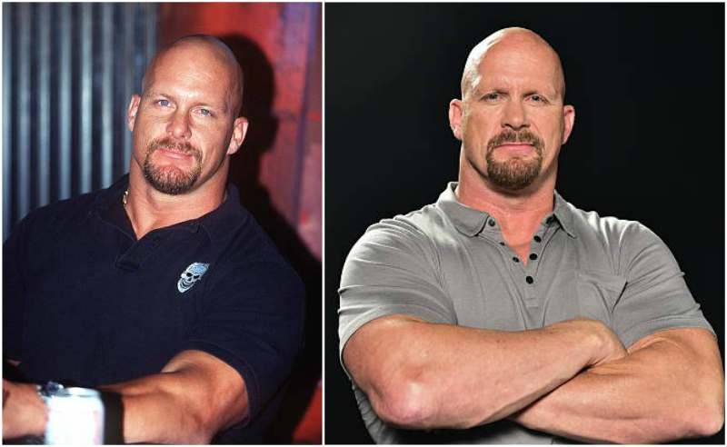 Steve Austin's eyes and hair color