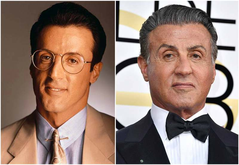 Sylvester Stallone's eyes and hair color