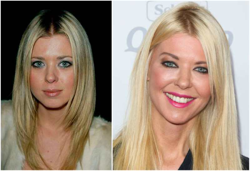 Tara Reid's eyes and hair color