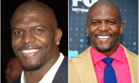 Terry Crews' eyes and hair color
