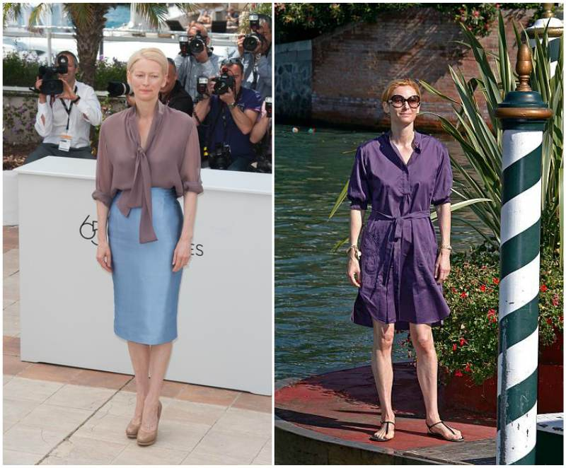 Tilda Swinton's height, weight and body measurements