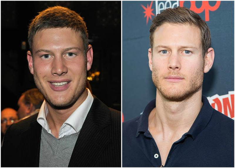 Tom Hopper's eyes and hair color