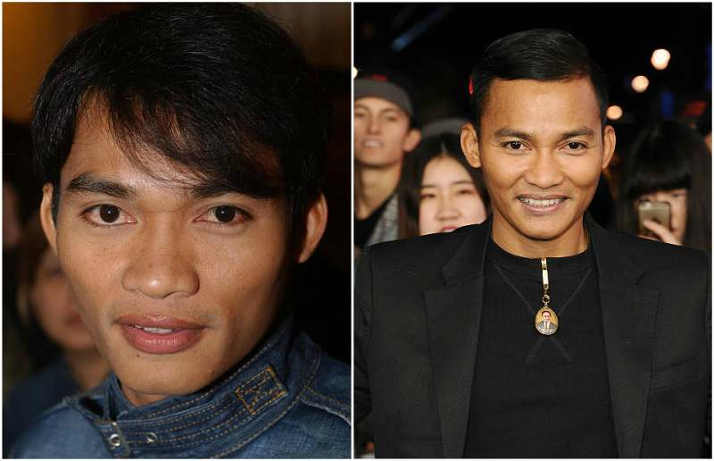 Tony Jaa's eyes and hair color