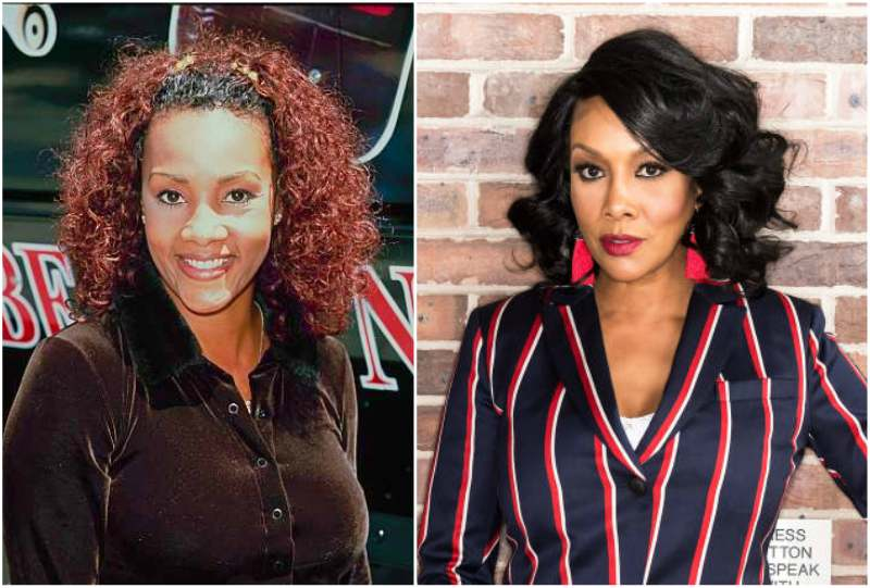 Vivica Fox's eyes and hair color