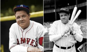 Babe Ruth's eyes and hair color