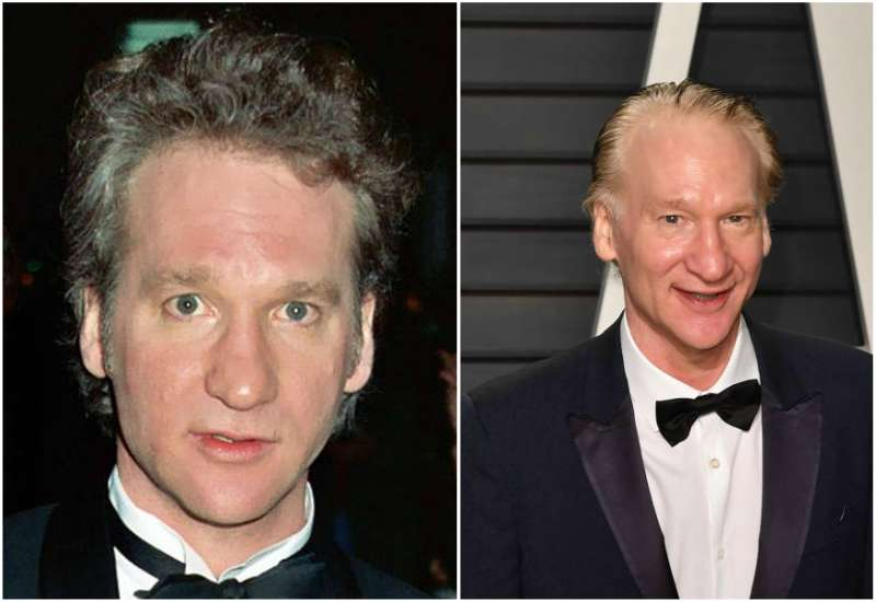 Bill Maher's eyes and hair color