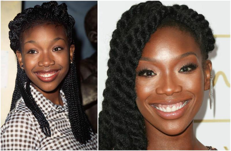 Brandy Norwood's eyes and hair color