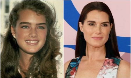Brooke Shields' eyes and hair color