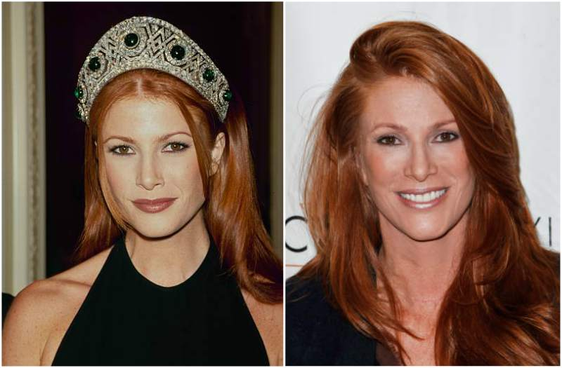 Angie Everhart's eyes and hair color