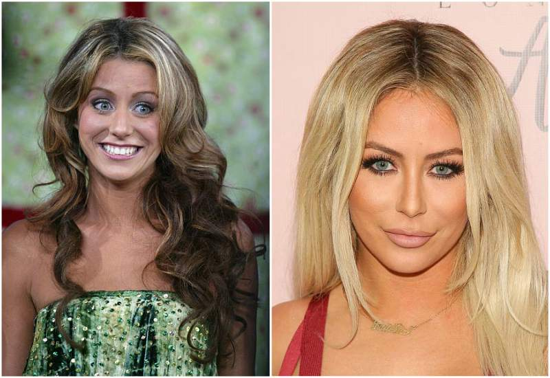 Aubrey O'Day's eyes and hair color