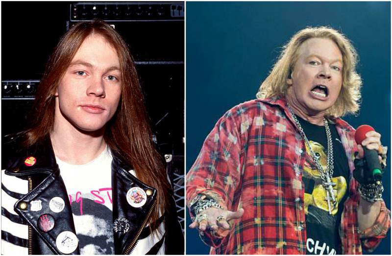 Axl Rose's eyes and hair color