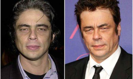 Benicio Del Toro's eyes and hair color