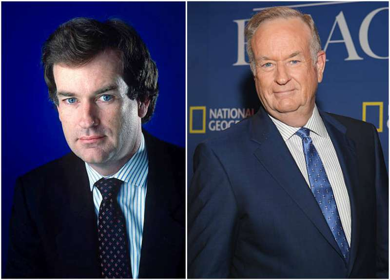 Bill O'Reilly's eyes and hair color