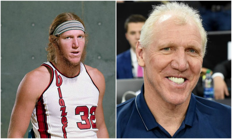 Bill Walton's eyes and hair color