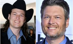 Blake Shelton's eyes and hair color