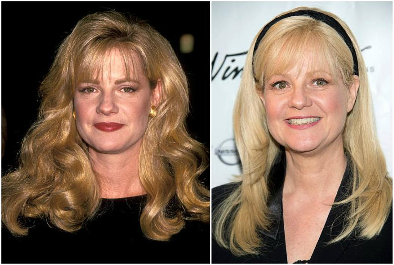 Bonnie Hunt's eyes and hair color