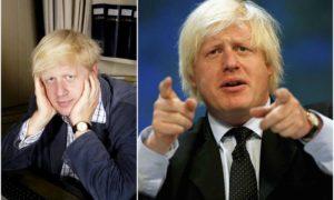 Boris Johnson's eyes and hair color