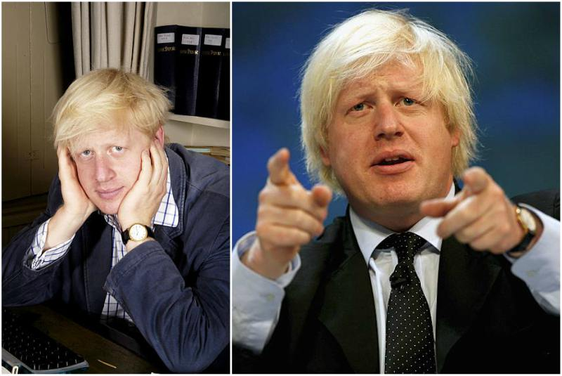 Boris Johnson's eyes and hair color