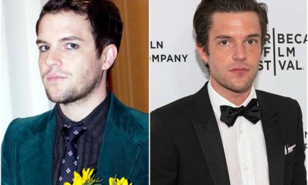 Brandon Flowers' eyes and hair color