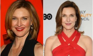Brenda Strong's eyes and hair color