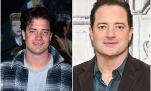 Brendan Fraser's eyes and hair color