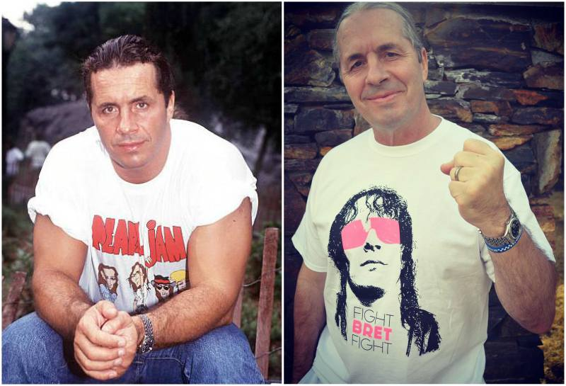 Bret Hart's eyes and hair color
