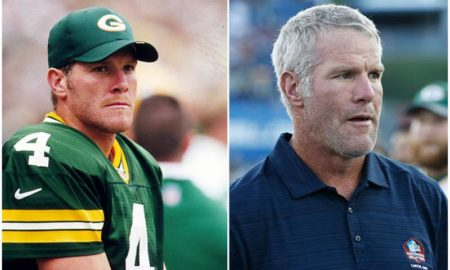 Brett Favre's eyes and hair color