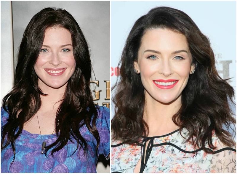 Bridget Regan's eyes and hair color
