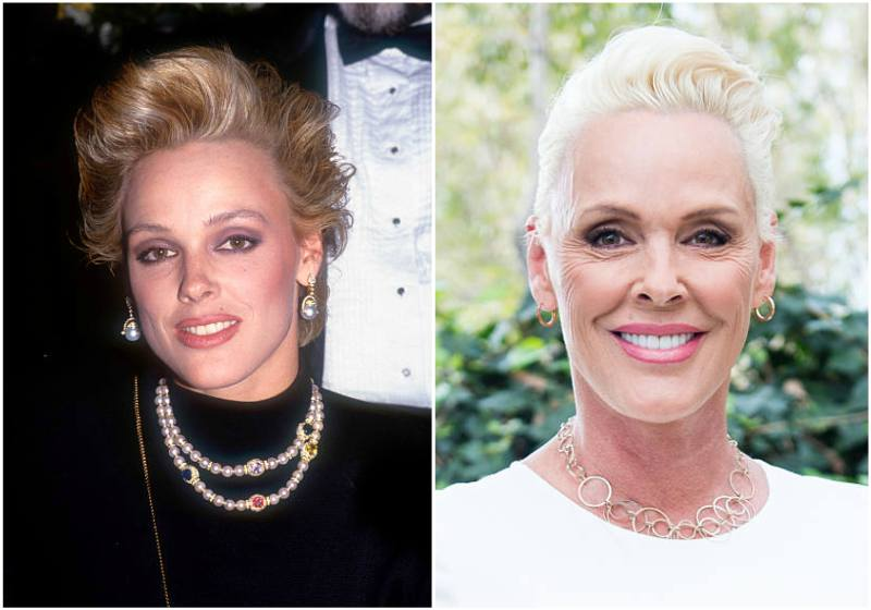 Brigitte Nielsen's eyes and hair color