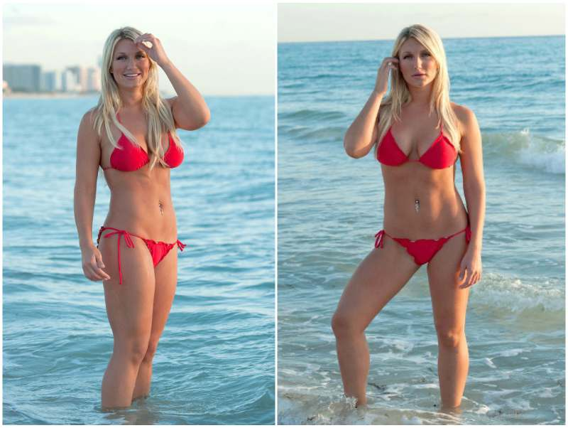 Brooke Hogan's height, weight. A strong lady with pumped ...