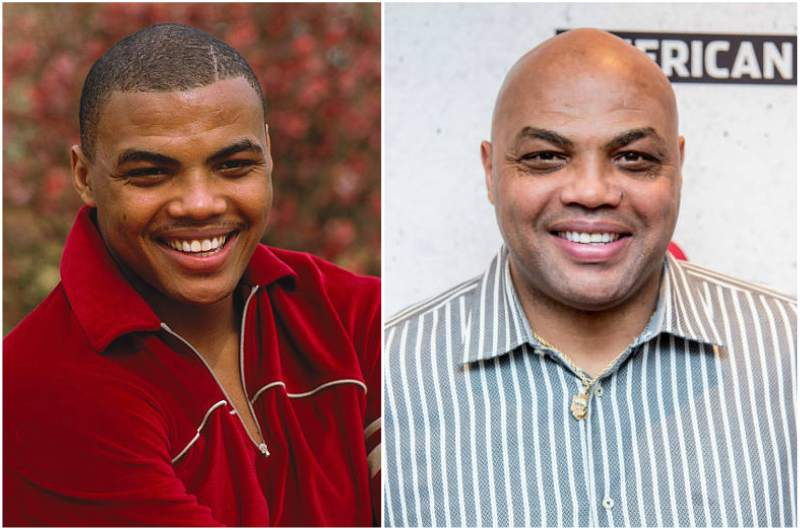 Charles Barkley's eyes and hair color