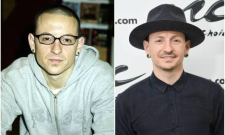 Chester Bennington's eyes and hair color