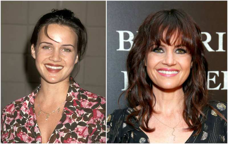 Carla Gugino's eyes and hair color