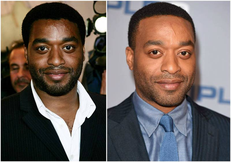 Chiwetel Ejiofor's eyes and hair color