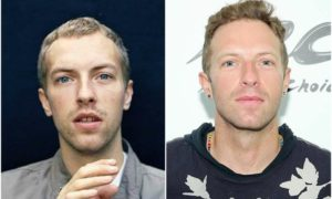 Chris Martin's eyes and hair color
