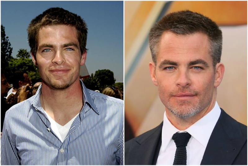 Chris Pine's eyes and hair color