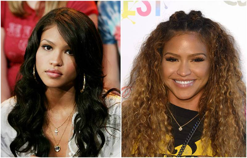 Singer Cassie's eyes and hair color