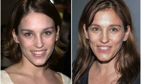 Amy Jo Johnson's eyes and hair color
