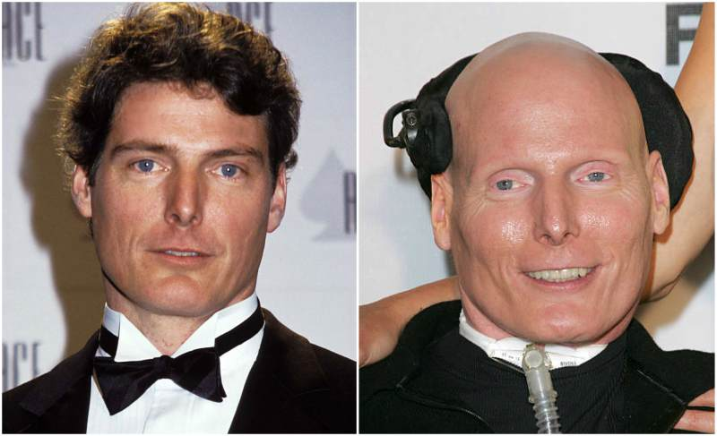 Christopher Reeve's eyes and hair color