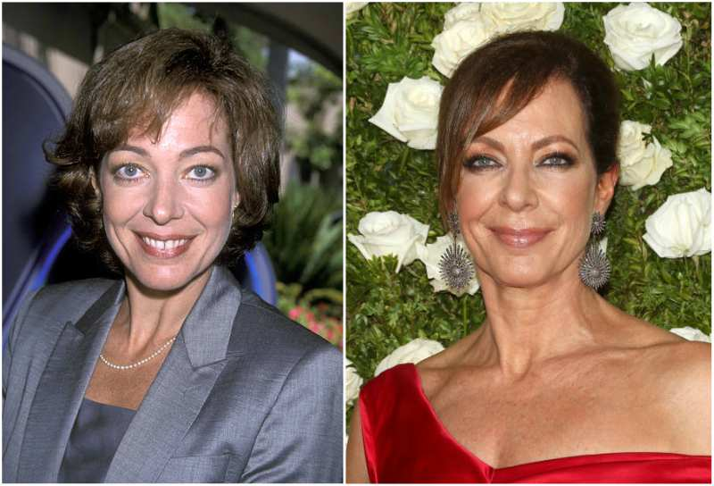 Allison Janney's eyes and hair color