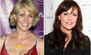 Amanda Tapping's eyes and hair color