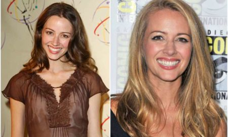 Amy Acker's eyes and hair color